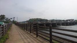滋賀県、琵琶湖より流れ出る瀬田川(南郷)洗堰
